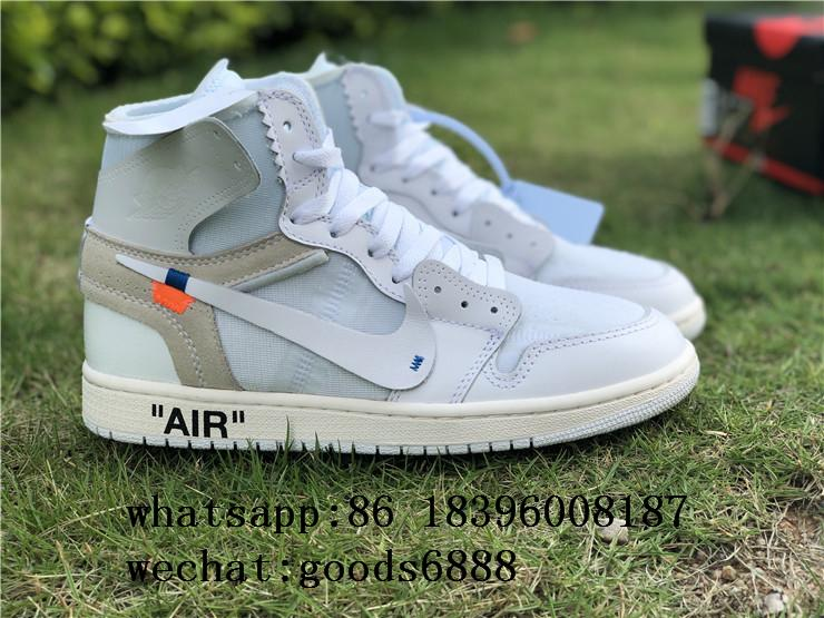 "authentic NIKE AIR JORDAN 1 ""OFF-WHITE"" Shoes Sneakers Release Online For Sale 12"
