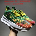 HOT SALE Chainz Versace black and multicoloured Chain Reaction sneakers shoes