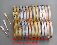 wholesale Cartier Bracelet Ring Necklace all brand 18k Gold Luxury jewelry set  (Hot Product - 6*)