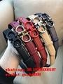 Ferragamo calfskin cowhide leather belt gold buckle Ferragamo belt free shipping