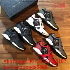 NEW style1:1 best PP PHILIPP PLEIN casual shoes sneakers  real leather men shoes