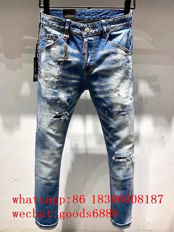 Wholesale authentic D2 Dsquared2 jeans 1:1 quality men long jeans pants trousers 1