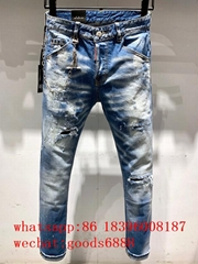 Wholesale authentic D2 Dsquared2 jeans 1:1 quality men long jeans pants trousers (Hot Product - 4*)
