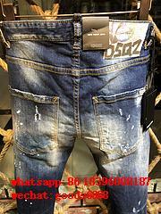 Wholesale authentic D2 Dsquared2 jeans 1:1 quality men long jeans pants trousers 5