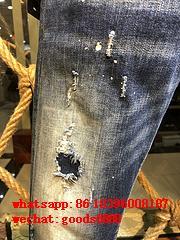 Wholesale authentic D2 Dsquared2 jeans 1:1 quality men long jeans pants trousers 8
