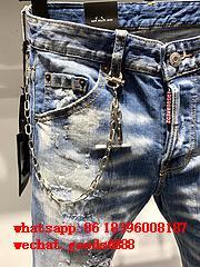 Wholesale authentic D2 Dsquared2 jeans 1:1 quality men long jeans pants trousers 9