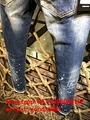 Wholesale authentic D2 Dsquared2 jeans 1:1 quality men long jeans pants trousers 11