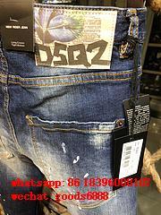 Wholesale authentic D2 Dsquared2 jeans 1:1 quality men long jeans pants trousers 13