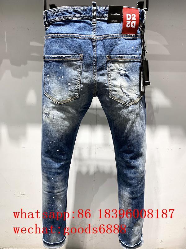 Wholesale authentic D2 Dsquared2 jeans 1:1 quality men long jeans pants trousers 14