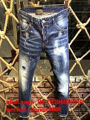 Wholesale authentic D2 Dsquared2 jeans 1:1 quality men long jeans pants trousers 15