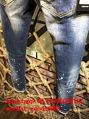 Wholesale authentic D2 Dsquared2 jeans 1:1 quality men long jeans pants trousers 16