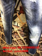 Wholesale authentic D2 Dsquared2 jeans 1:1 quality men long jeans pants trousers 18