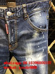 Wholesale authentic D2 Dsquared2 jeans 1:1 quality men long jeans pants trousers 20