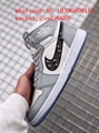 wholesale newest 1:1 best quality dior Nike Air Jordan 1 sports basketball shoes 11