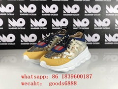 2020top quality Versace shoes sneakers  CHAIN REACTION SNEAKERS versace trainers (Hot Product - 2*)