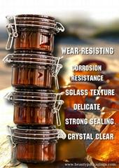 Environmental Protection  Thick PET Amber Sealed Cream Jar