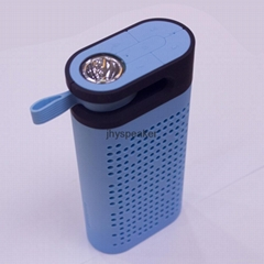 portable wireless led light lamp bluetooth speaker battery charger with FM Radio