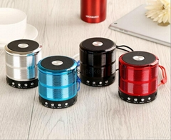 HIFI Stereo portable mini metal bluetooth wireless speaker ws 887 USB TF