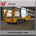 3 Axles 45Tons Flatform Lowbed Semi