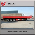 3 Axles 45Tons Flatbed Drop Side Wall
