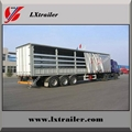 3 Axles 45Tons Flatbed Side Curtain Semi