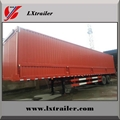 3 Axles 45Tons Flatbed Box Lifting Open Semi Trailer  2