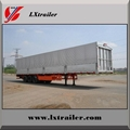 3 Axles 45Tons Flatbed Box Lifting Open Semi Trailer  4