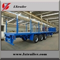 3 Axles 45Tons Flatbed Logging Transport