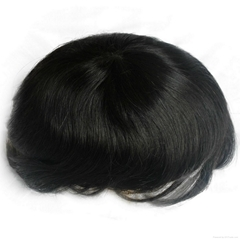 Hair wig for men in stock #1b human hair with pu around