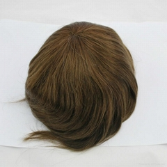 #4handmade toupee for men full lace hairpiece for hair replacement and loss