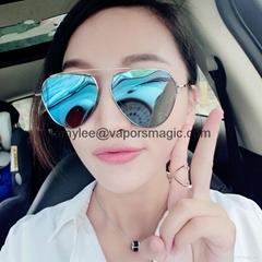 Wholesales Women Glasses Multicolor Aviator Mirror Lens Sunglasses Fashion
