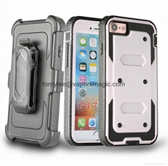 WHOLESALES IPHON 6 PLUS  PLASTIC MOBILE PHONE CASE WITH CLIPS  (Hot Product - 1*)