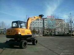 恒特HT70挖掘机轮式挖掘机