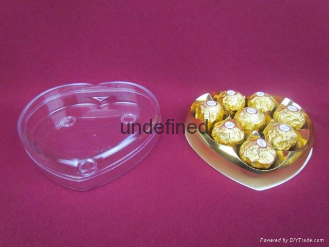 heart shaped chocolate plastic box with factory price 1