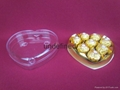 heart shaped chocolate plastic box with