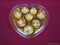 heart shaped chocolate plastic box with factory price 3
