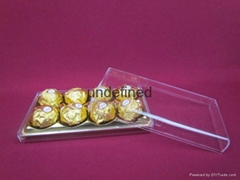 Wholesale Price Custom design chocolate cookie packaging box in plastic