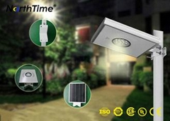 Outdoor 12W LED Street Light With Solar Panel Monocrystalline Silicon Material