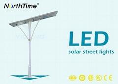High Brightness LED Solar Street Lights 18V 150W USA Sunpower Solar Panel