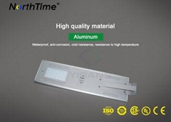 115LM / W Outdoor LED Street Lights Solar Powered With LiFePO4 Battery