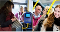 City Bus Ticket Validator IC Card Reader With NFC And GPRS For City Bus BRT