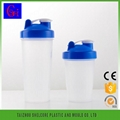 Plastic sport  protein shaker bottle