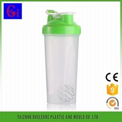 Sport shaker bottle 600ml 400ml shaker bottle mug cup