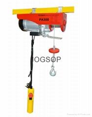 PA150-300 KG Mini Electric Hoist wire rope hoist