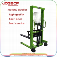 Good Manufacturer 2 Ton Manual Hydraulic Stacker with Low Price