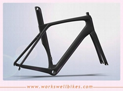 Good quality Aero  Carbon Fiber Road Bike Racing Vbrake Frame accept book
