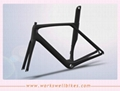 Good quality Aero  Carbon Fiber Road Bike Racing Vbrake Frame accept book 2