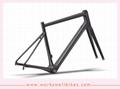 2017 latest design aero OEM China Carbon Frame Endurance Road Bike frame 5