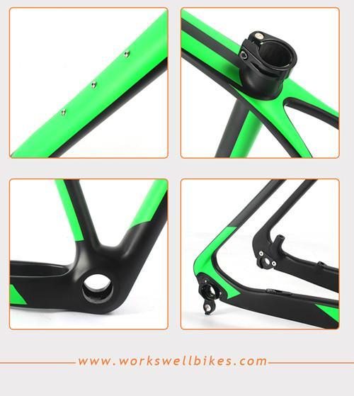 2017 New 29er XS Carbon Fiber Hardtail Mountain Bike Frame with Lightweight 5
