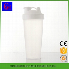 600ML Portable plastic protein shaker bottle